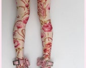 Floral high stockings for BJD