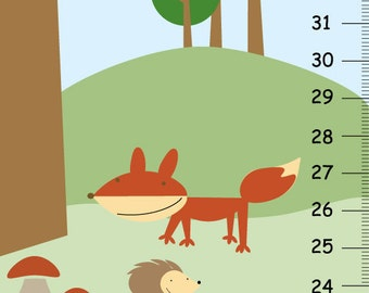 Personalized Growth Chart - Woodland Forest Friends