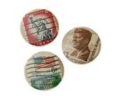 SALE - USA - Vintage Postage Stamp Badges