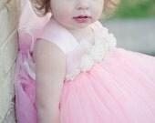Pink Delight Tutu Rosette Dress