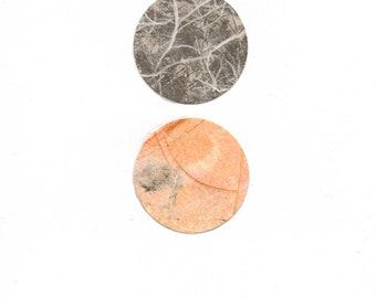 """Dots 1, small 5"""" x 7"""" original collage on paper"""