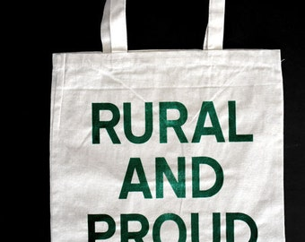 Uniquely Imperfect  RURAL and PROUD Canvas Grocery Tote Bag