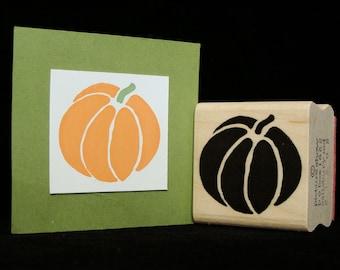fall pumpkin rubber stamp