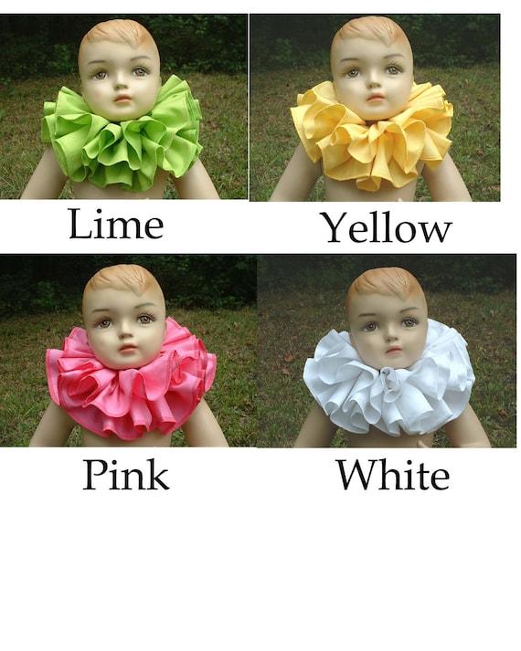 C121   Gorgeous Cotton Double Ruffle Children's Clown Collar         You Choose the Color