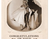 Wedding Card, Alien, Marriage Card, Scifi art, Retro Card, Monster Art, Wedding, alternate histories, geekery