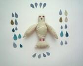 Cream Beige  Postal pigeon , soft art toy by  Wassupbrothers