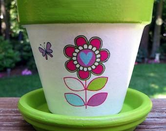 Children's Flower Pot Garden Kit With Spade,Seeds, and Soil Disk