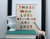For Dreamers // Typographic Print, Digital Print, Office Art, Art Poster, Inspirational Quote, Proverb, Australian, Kids Room