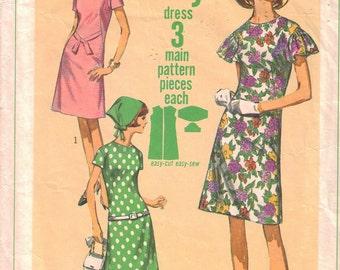 CLEARANCE  Vintage A-Line Dress Pattern  1966 Size 12 Simplicity 6910