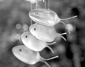 SALE   1800's Silver spoon fish  wind chimes