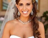 Brooch Bouquet - Custom Modern Jewelry Heirloom Bouquet Medium - Round Bouquet Enamel Flowers Bling Statement Blue Green Brown Fall Wedding