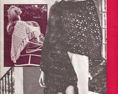 10 Soft, Flirtatious Shawls Wraps - 6 to Crochet, 4 to Knit - Vintage BERNAT Ten Beautiful Snuggly Shawls 1970s
