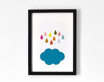 Rain & Cloud / Poster A4