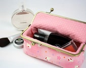 Cosmetic Bag - Sweet Pink Rabbit Bunny under the Blooming Sakura (Pencil Case, Cosmetic Case, Makeup Pouch, Travel Bag)