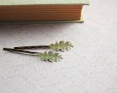 Leaf Hair Accessories, Cream Leaves, Oak Leaf, Bobby Pins, Pair of Leaves, Bridal Accessories
