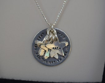 Personalized Necklace - Sterling Silver-  Stamped Kids\Grand-kids Names - Necklace for Mom, Grandmother,Sister, Aunt,Best Friend