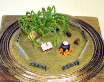 The Sanctuary - Miniature Garden Desktop Garden Mini Terrarium Handmade Diorama Witch Garden
