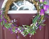 Spring Wreath - Simply Purple Spring Wreath