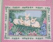 Easter Wall Hanging - Bunny Family - Shabby Chic Wallhanging