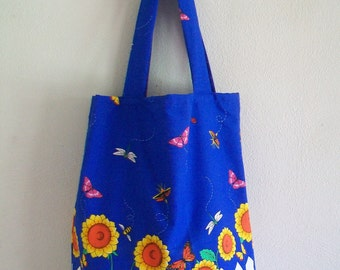 Extra Large Tote Bag - My Sunflower Garden
