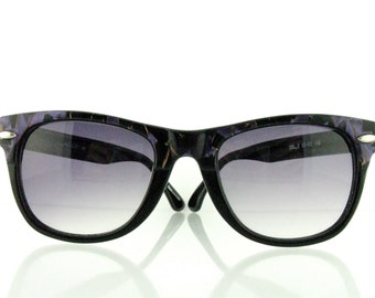 "Vintage Deadstock 80's Wayfarer ""Cruiser 1"" Sunglasses Marbled Purple + Black  - FREE Domestic Shipping"