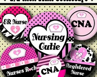 INSTANT DOWNLOAD Nurses Rock (337) 4x6 Digital Collage Sheet 1/2 half inch (0.5 inch size) mini bottle cap images resin pendants glass tiles