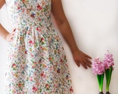 Vintage inspired bridesmaid dress flower dress, cotton dress, spring summer dress