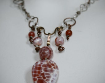 Necklace Sterling Silver Agate