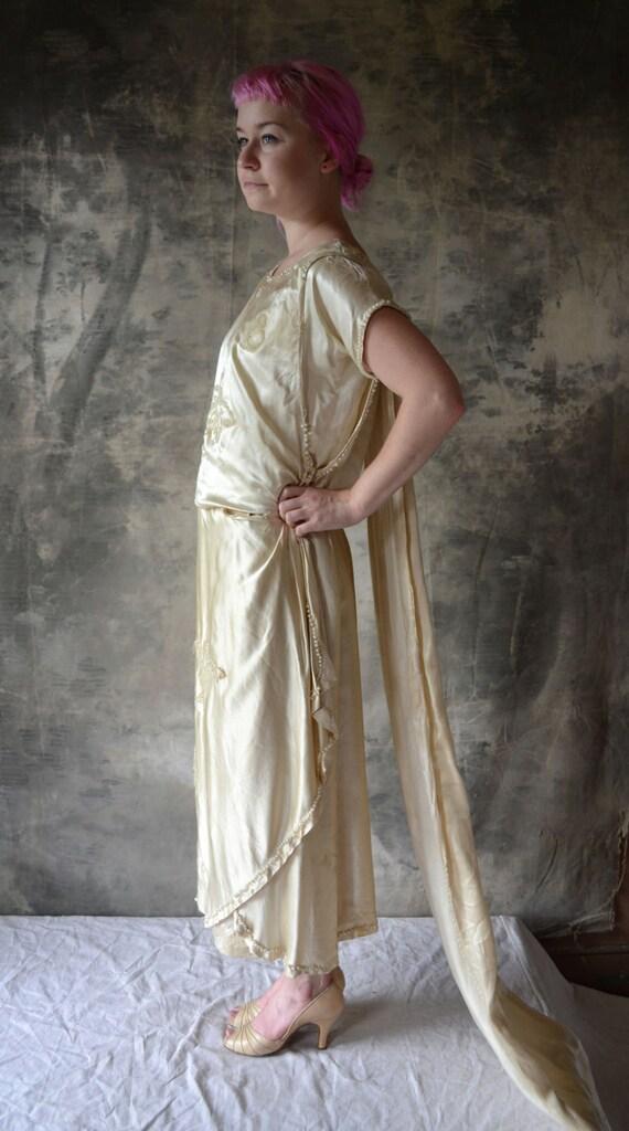 1920's Great Gatsby Zelda  Silk Wedding Dress
