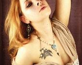 "LAST CHANCE Clearance item 50% Off Fleur de Springpunk Necklace 16"" - 18"" Adjustable"