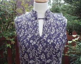 Vintage Laura Ashley Long Dress/ Shift UK 12 US 8 EU 38 Chinese style neckline occasion