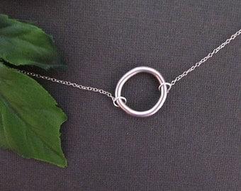 Circle Necklace, Minimal Necklace, Everyday Necklace, Minimalist Necklace, Bff Necklace, Best Friend Necklace, Simple Necklace, Friendship