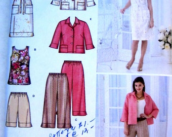 Simplicity 3757 Womens Dress Tunic Pants Shorts Jacket Sewing Pattern Bust 32 to 36