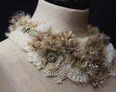 AND OLD LACE Statement Collar Neckpiece Bib Necklace