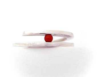 red coral tension ring