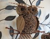 Cardboard Owl Ornament Small
