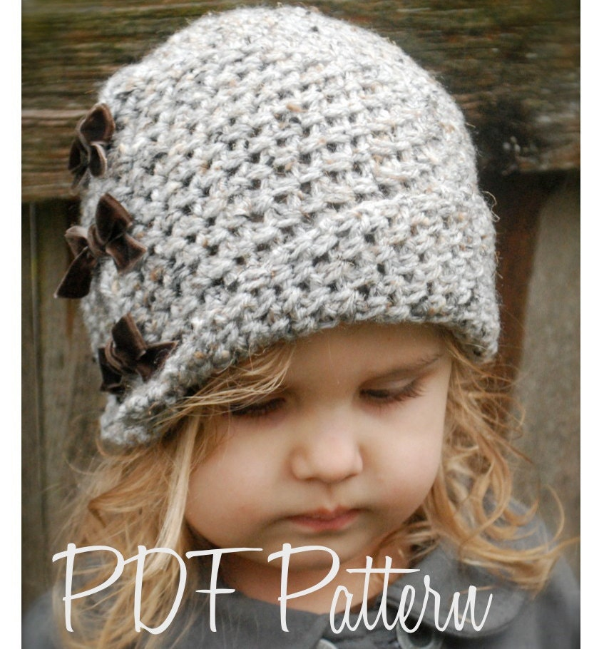 Crochet Hat Pattern Cloche : Crochet PATTERN-The Paiyton Cloche Toddler Child and