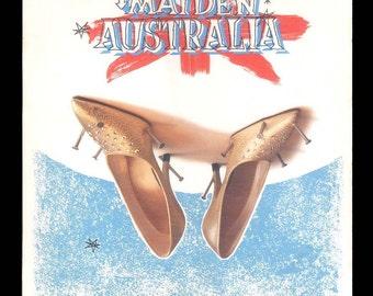 Maiden Australia 1983 A&M / OZ LP Sampler Split Enz, Jo Jo Zep, Sunnyboys, Skyhooks, The Expression, Vintage Record Album