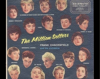 The Million Sellers - Frank Chacksfield Orchestra - Vintage Vinyl Record Album, 1957 Richmond LP - Orchestral Music