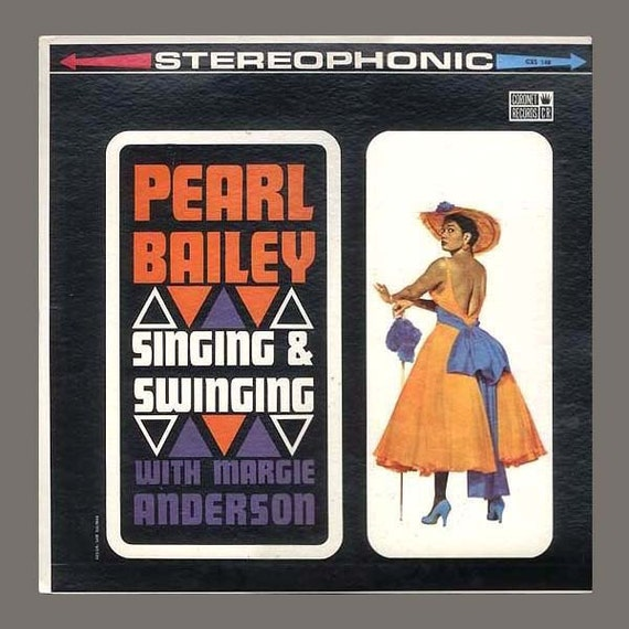Pearl Bailey and Margie Anderson, Singing and Swinging, Collectible Music Vintage Vinyl Record Album - Jazz Vocalists - Coronet LP 1960