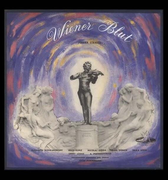 Johann Strauss, Weiner Blut - Comic Operetta - Otto Ackermann - Vintage Vinyl Record Album - 1954 Angel 2 LP Set