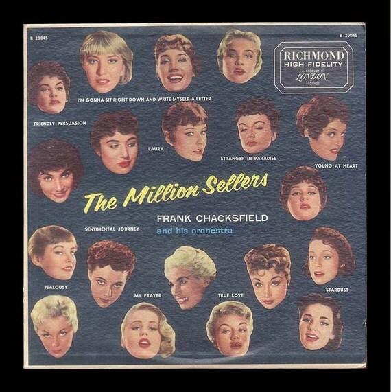 The Million Sellers - Frank Chacksfield Orchestra - Vintage Vinyl Record Album, 1957 Richmond LP - Orchestral Music