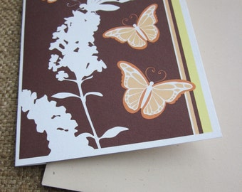 Butterfly blank note cards - 8 pack