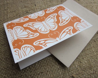 Butterfly Silhouettes - folded blank note cards - 8 pack