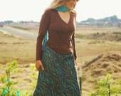 Maxi Skirt - Long Skirt - Hemp Organic Cotton Blend - Eco Friendly - Organic Clothing