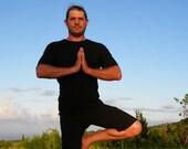 Men's Yoga Shorts - Workout  Clothing - Organic Cotton Soy - Eco Friendly - Organic Clothing