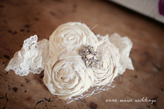 Wedding Garter...Ivory Wedding Garter...Wedding Garter Set..Toss Garter...Lace Wedding Garter...Boudoir....BRIDAL collection