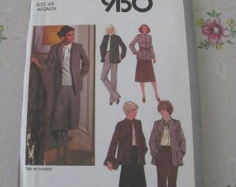 Simplicity Pattern 9150 Women's Size 44 Skirt, Pants, Jacket, Uncut Vintage