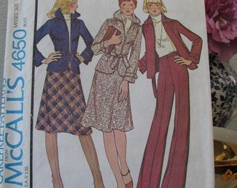 Vintage McCall's Pattern Misses Size 8, Dated 1975, Uncut