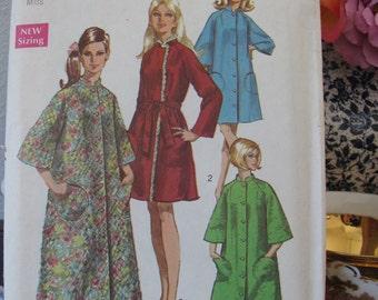 Vintage Simplicity Pattern 8510 Size 8 -10 Misses Robes Dated 1969, Uncut